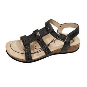 ABEO Women's 7 Black  biosystem Sandals